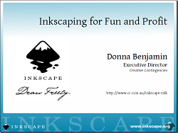 screenshot of first slide of 'Inkscaping for Fun and Profit'
