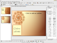 Screenshot of Spiral template in OpenOffice.org