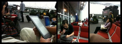 Digital Devices in Hong King Airport